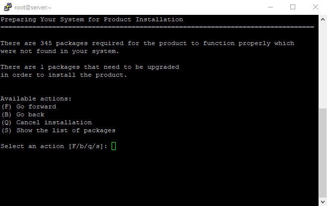 7 Plesk installation packages on Linux VPS