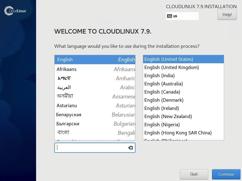 Choose Language You Use During Installation