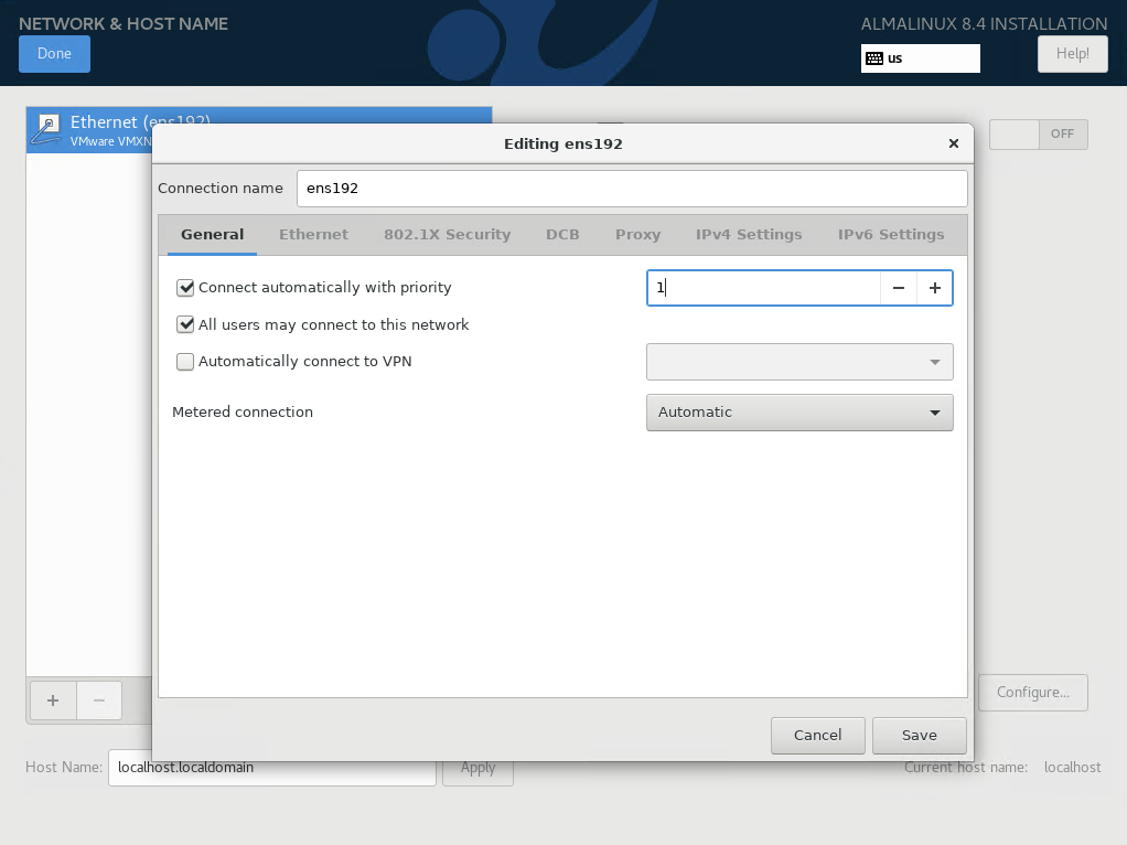 Configure Network General Setting In AlmaLinux