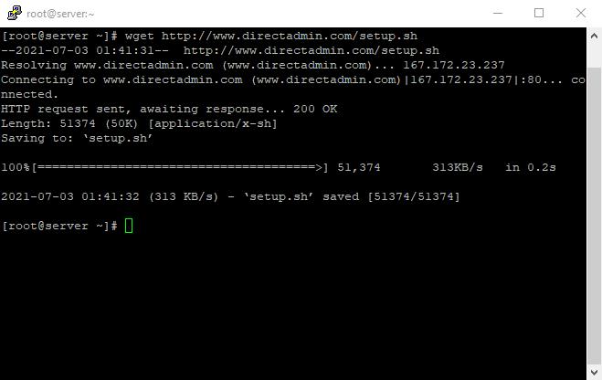 Download DirectAdmin Installation Script