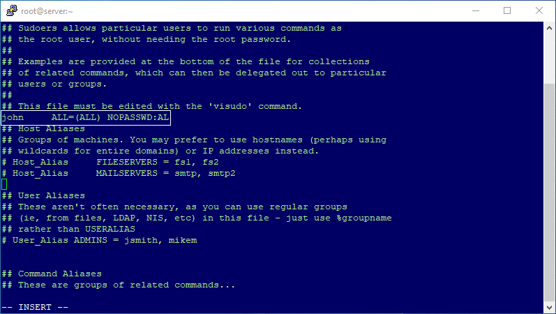 Edit Sudoer file in Linux